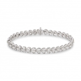 White Gold Diamond Line Bracelet 1.97ct